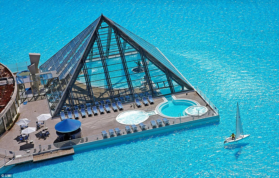 Try swimming lengths in this pool...or sail on it instead. (2/6)