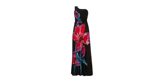 Black Floral One Shoulder Maxi Dress from New Look for £14.99