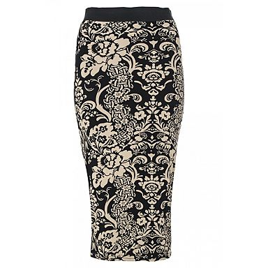 Black & Stone Print Midi Tube Skirt Debenhams £5.59