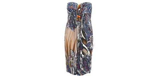 Blue and Brown Ethnic Paisley Bead Halterneck Bandeau Dress from New Look for £14.99