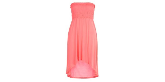 Bright Pink Dip Hem Bandeau Dress from New Look for £9.99