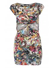 Cartoon Print Cut-out Dress from Quiz for £9.99