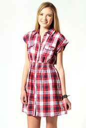 Chloe Check Shirt Dress from BooHoo for £15