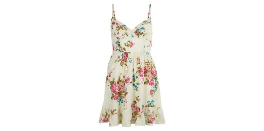Cream Floral Strappy Sun Dress  from New Look for £14.99