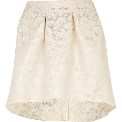 Cream jacquard skirt £7