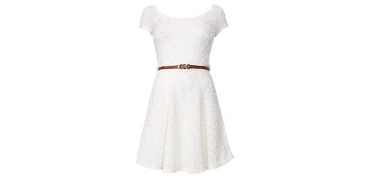 Cream Popcorn Knit Cap Sleeve Dress from New Look for £7