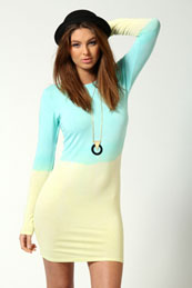 Daisy Long Sleeve Ombre Bodycon Dress from BooHoo for £15