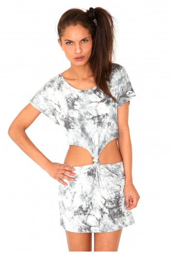 Haritta Tie Dye Cut Out Tunic In Grey from Missguided for £11.99