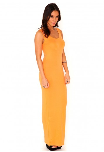 Juliette Jersey Maxi Dress In Nectarine from Missguided for £10.99