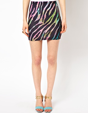Oh My Love Zebra Mini Skirt ASOS £8