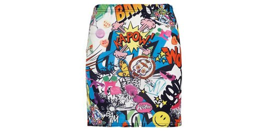 Parisian White Comic Book Mini Skirt New Look £9.99