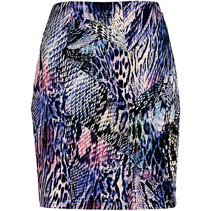 Purple print skirt River Island £8