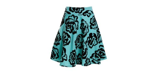 Red Label Turquoise Floral Skater Skirt New Look £9