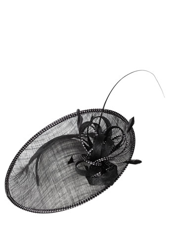 Black spot Trim Fascinator from BHS for £22.50