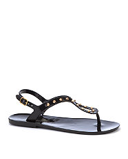 Black Stud Jelly Sandals from New Look for £12.99