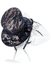 Contrast Lace And Satin Mini Top Hat from Accessorize for £27.00
