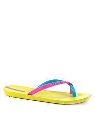 Ipanema Light Green Neon Beach Flip Flops from New Look for £14.99