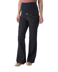 Maternity 30in Navy Overbump Bootcut Jeans £15.99
