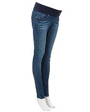 Maternity Blue  Shaper Underbump Skinny Jeans £22.99