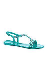Turquoise Diamante Strap Jelly from New Look for £12.99