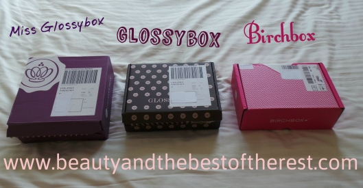 Beauty Box Bonanza! Glossybox, Miss Glossybox and Birchbox